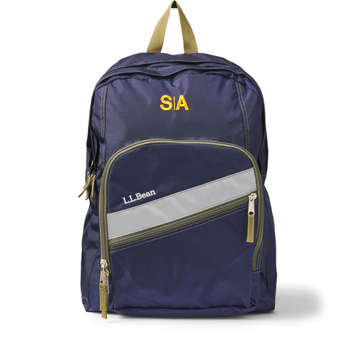 LL Bean Deluxe Size Backpack (K-12) [NY264-LLB SALG-NAVY]