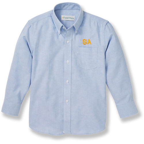 Long Sleeve Youth & Ladies' Blouse [NY264-OX/L SA-BLUE]