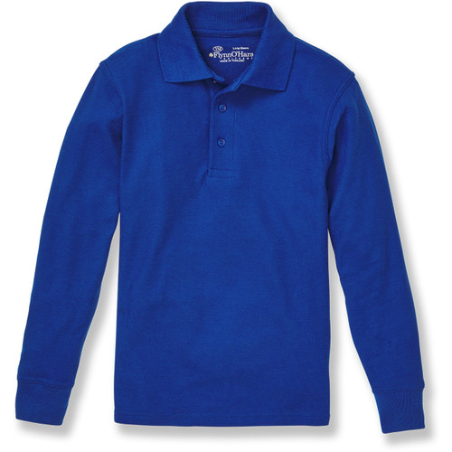 Long Sleeve Polo Shirt with embroidered logo [TX133-KNIT/FWC-ROYAL]