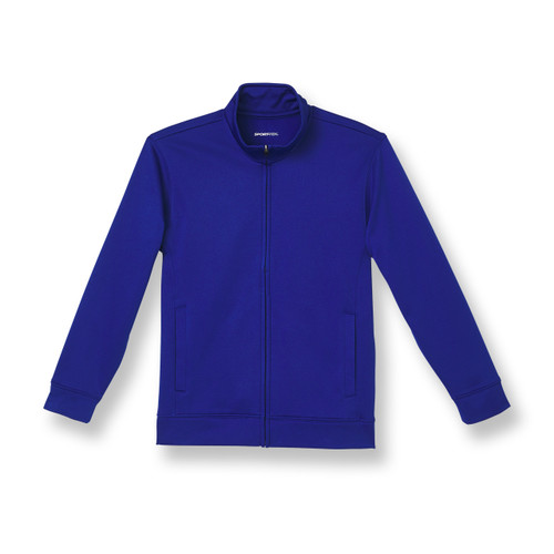 Full-Zip Performance Fleece Jacket with embroidered logo [NJ047-ST241-ROYAL]