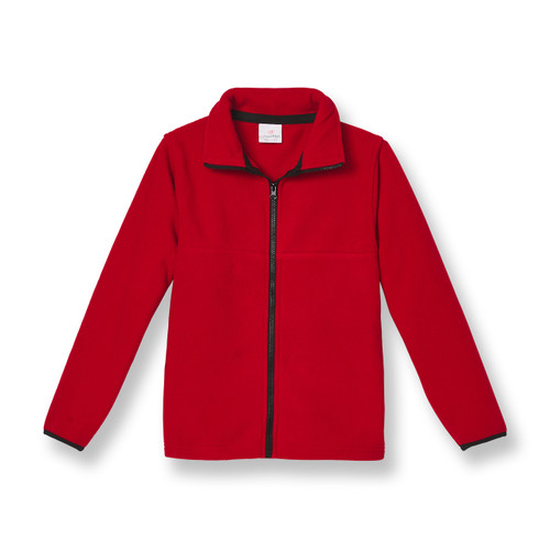Full-Zip Fleece Jacket with embroidered logo [NY418-SA2500-RED]