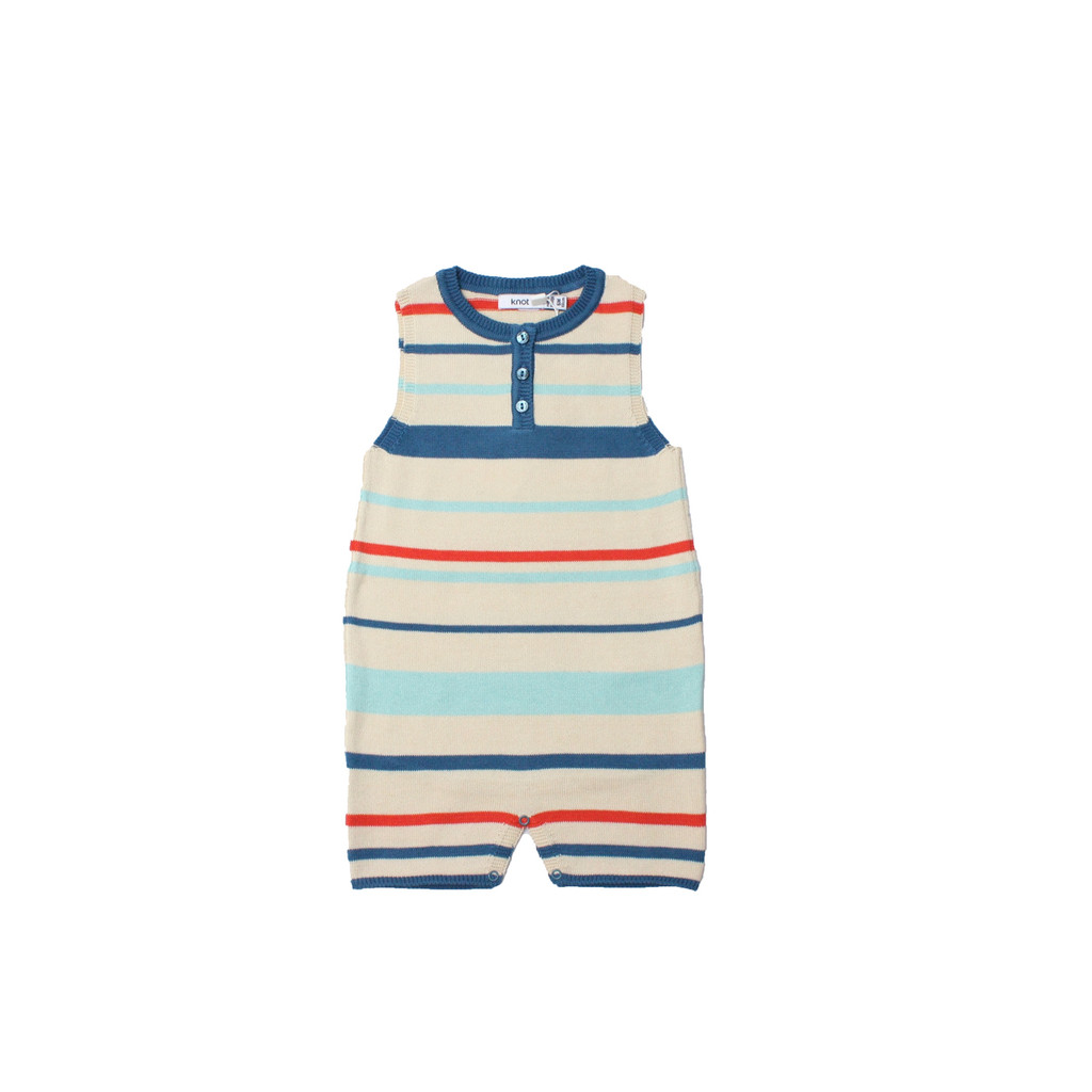 KNOT | SS18 | KNITTED STRIPED ROMPER | STRIPE