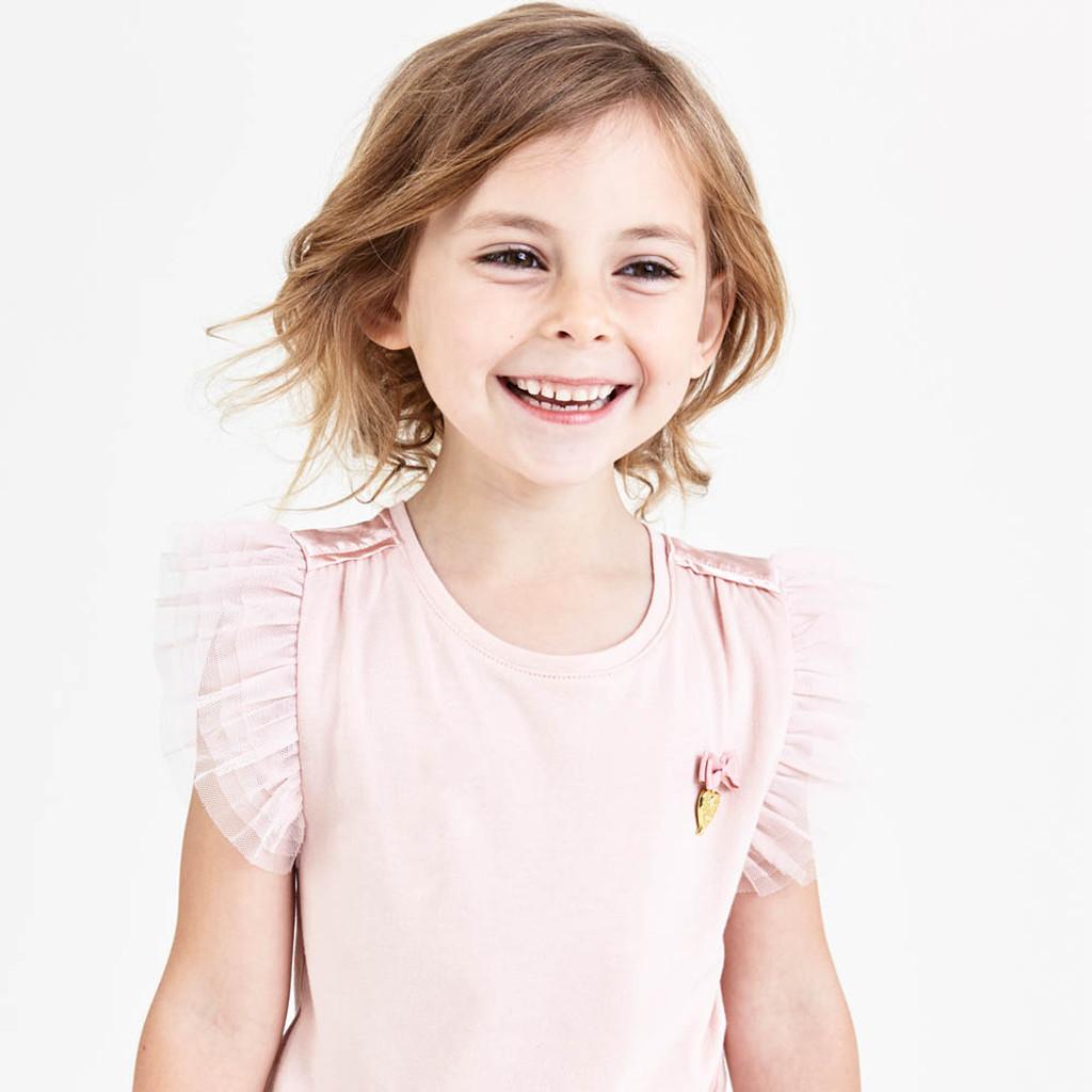White Angel/'s Face Girls Kids Leona Top Sleeveless Shirt Blush