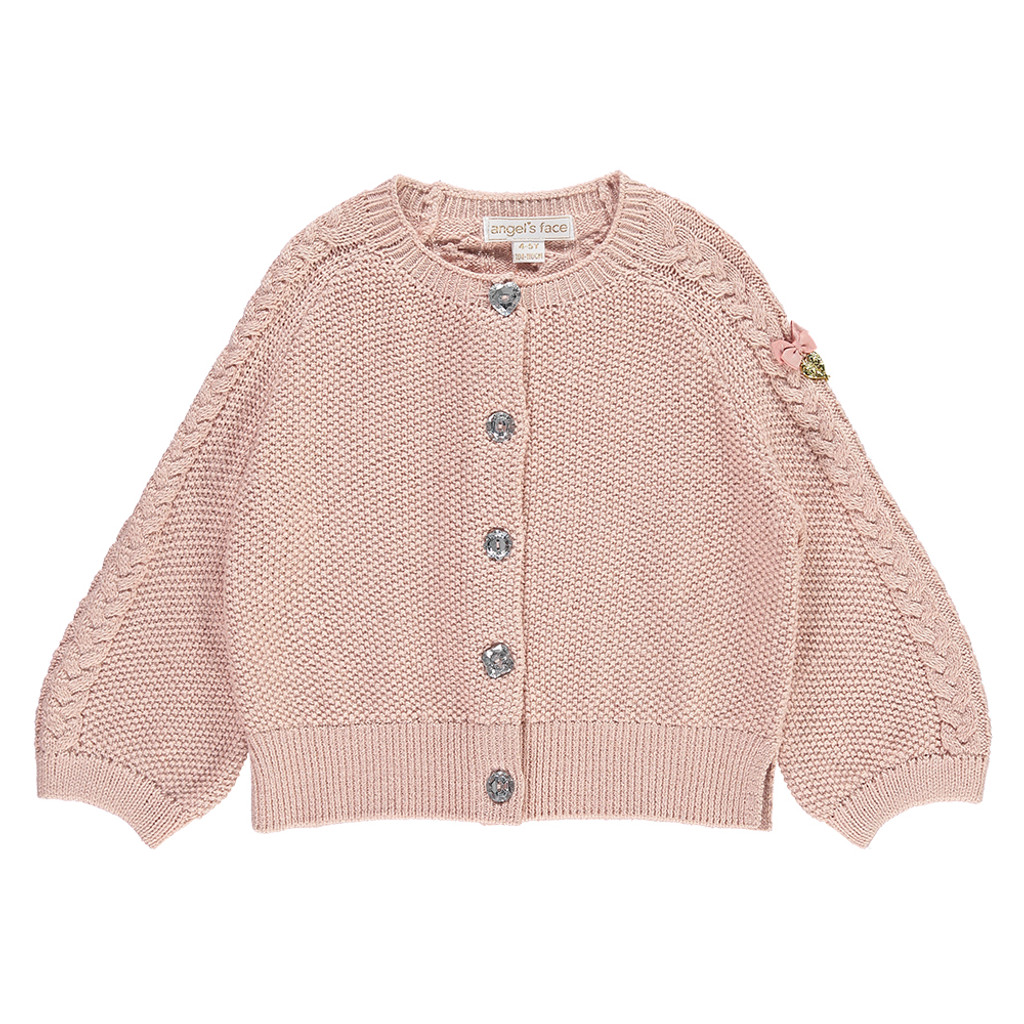 ANGEL'S FACE | IMOGEN GLITTER CARDIGAN BLUSH