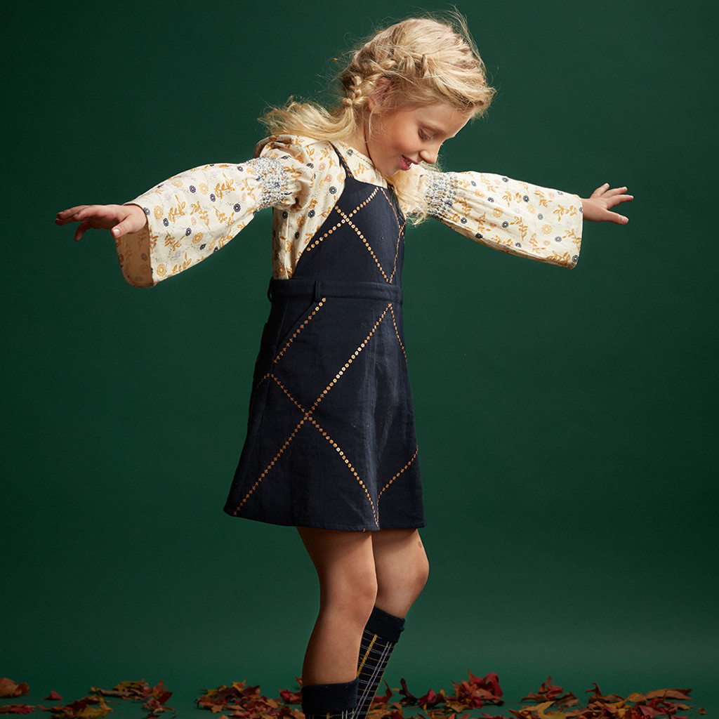 VELVETEEN | BIBI | PINAFORE DRESS