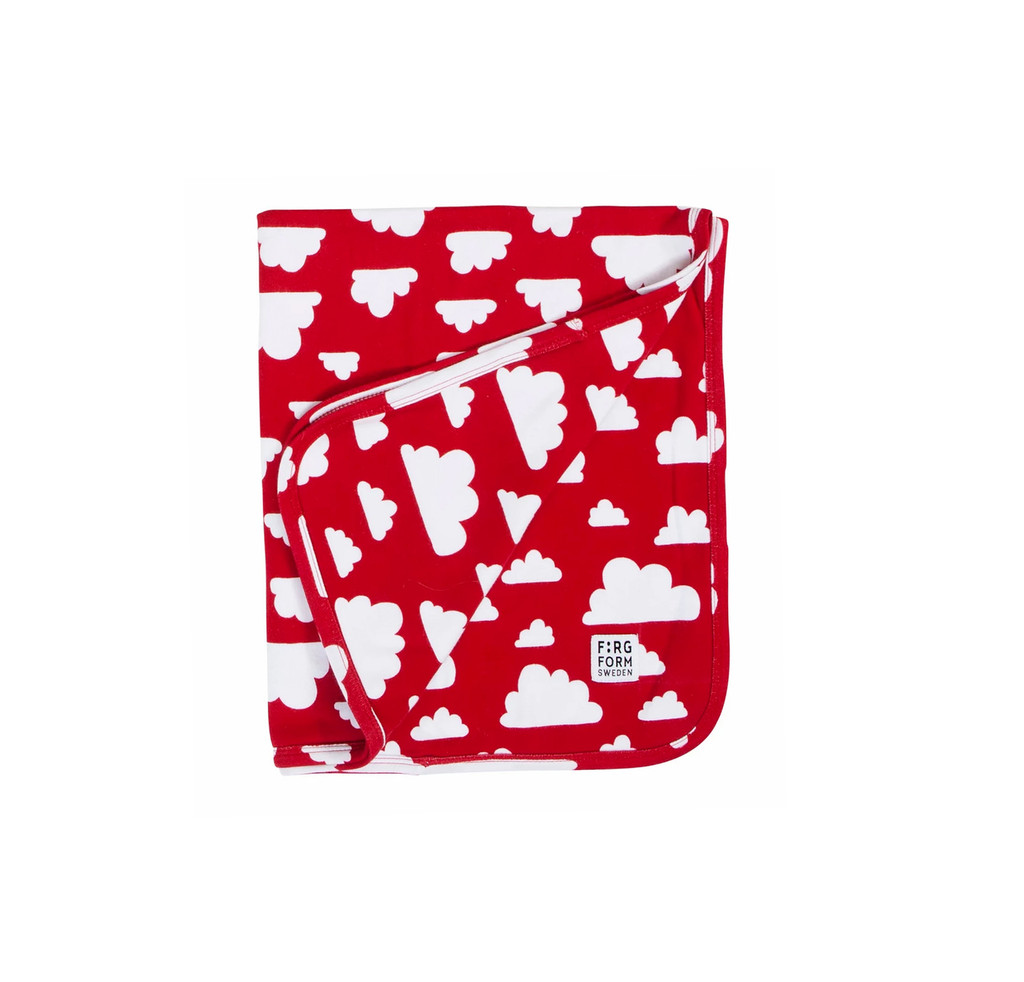 FARG FORM |  Blanket Cotton - Moln | Red