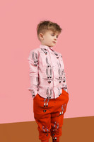 HUGO LOVES TIKI | PINK BUNNY COLLARED SHIRT | PINK