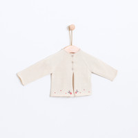 KNOT | SS18 | FLOWERS KNITTED CARDIGAN | BEIGE