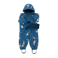 "TINY COTTONS | ""PIGEONS"" SNOW ONE-PIECE 
