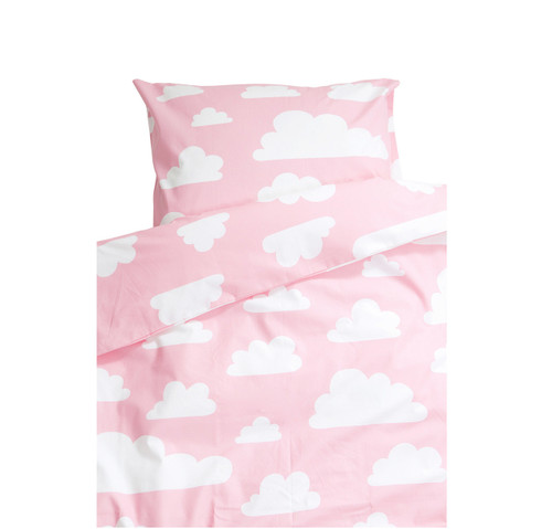 FARG FORM | Bedding set (1 Pillow Case + 1 Duvet Cover ) - Moln  | Pink
