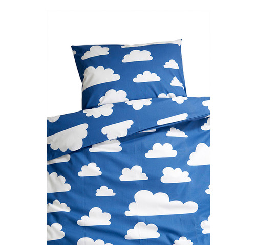 FARG FORM | Bedding Set (1 Pillow Case + 1 Duvet Cover ) - Moln | Blue