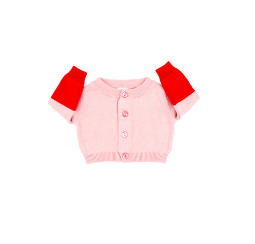 TINY COTTONS AW17 | COLOR BLOCK BABY CARDIGAN | PINK