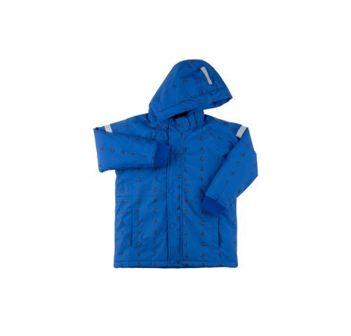TINY COTTONS AW17 | ALPHABET SOUP SNOW JACKET | BLUE