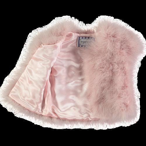 Angel's Face | Marabou Feather Jacket | Blush Pink