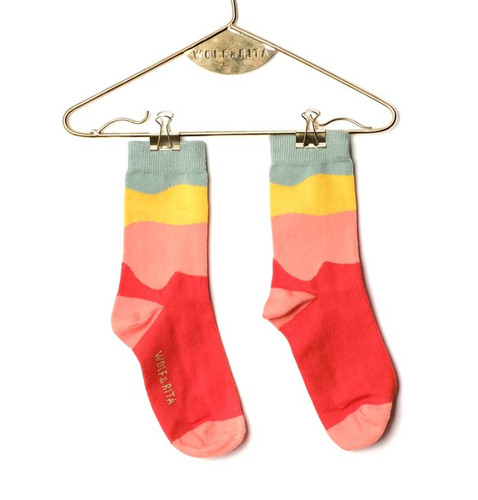 WOLF & RITA | MINI SOCKS | YELLOW RED
