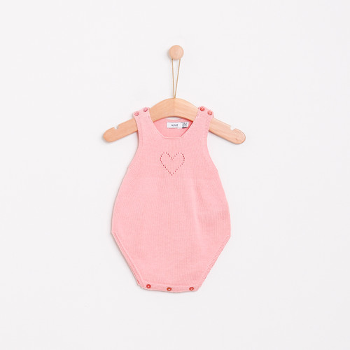 KNOT | SS18 | HEART KNITTED ROMPER | PINK