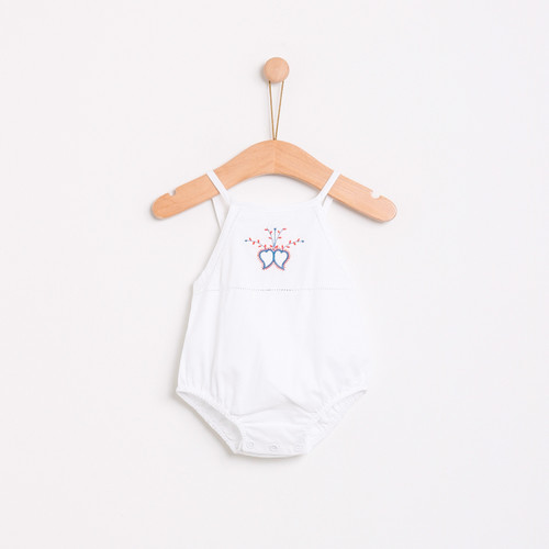 KNOT | SS18 | HEARTS ROMPER | WHITE