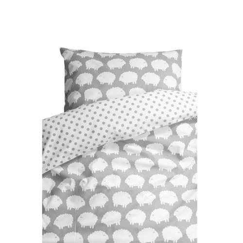 FARG FORM | Bedding Set (1 Pillow Case + 1 Duvet Cover ) - Lamm | Grey