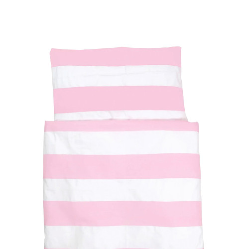 FARG FORM | Bedding Set (1 Pillow Case + 1 Duvet Cover ) - Blockrand | Pink