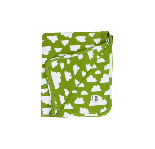 FARG FORM |  Blanket Cotton - Moln | Green