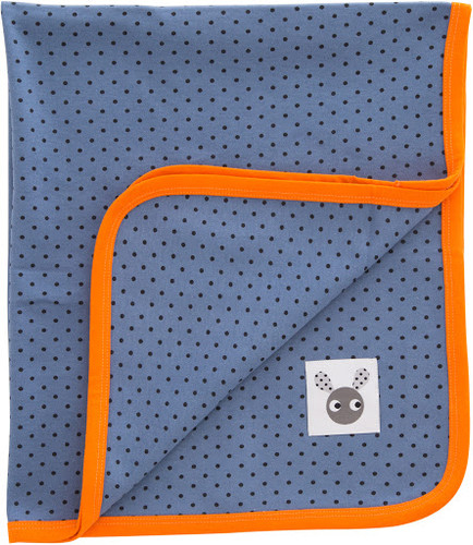 FARG FORM | Organic Blanket  - Skummis | Blue/Orange