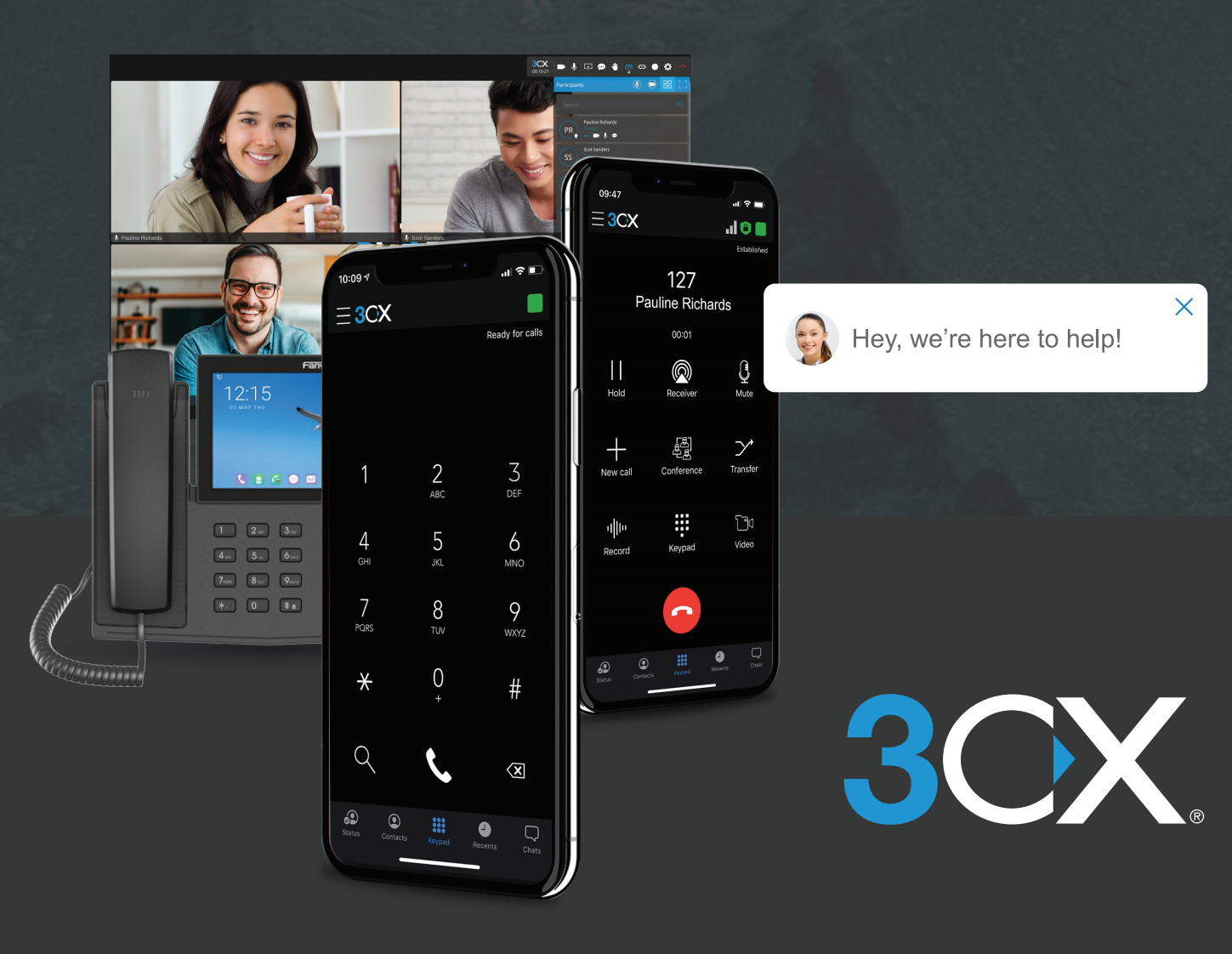 3CX VoIP Phone System Image