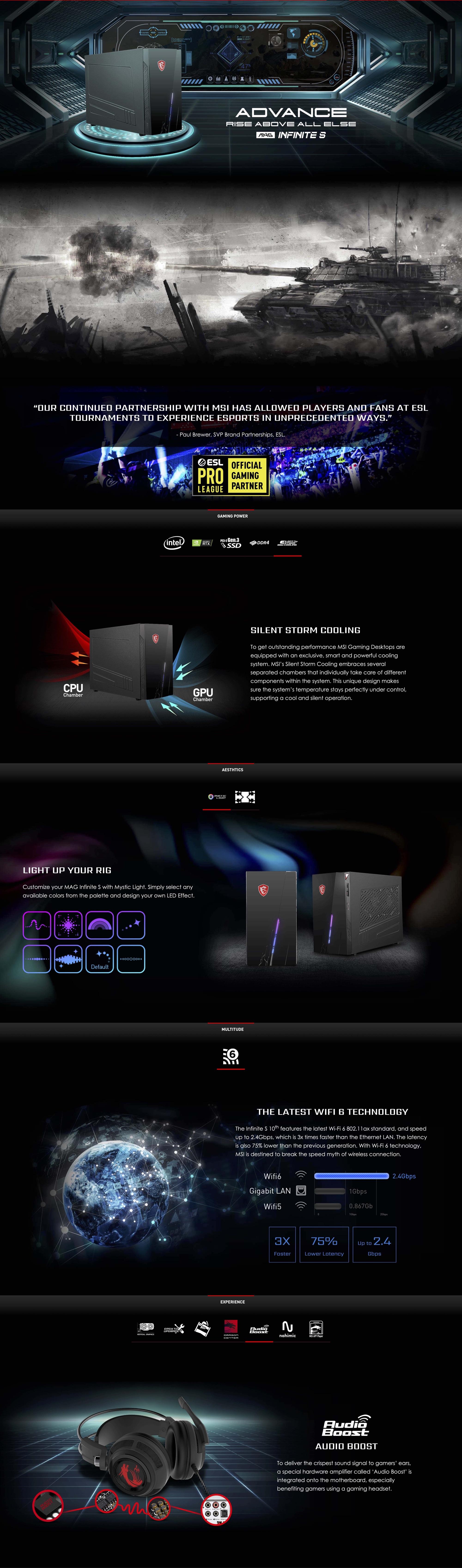MSI Infinite S 10th | Gaming Desktop | The Compact Conqueror | Description
