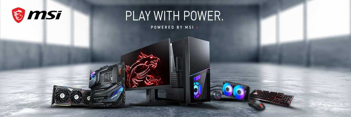 Gaming PCs powered by MSI banner