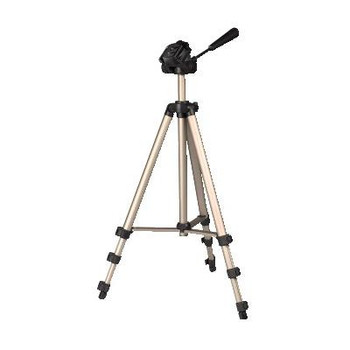 Hama Products Compact tripod for photo and video. 3-way tripod head and spirit level and quick release plate. With rubber feet. Diameter: 19.8 mm. Closed length: 42.5 cm. Fully extended length : 125 m. Weight: 620 g. Incl. bag. [4175]