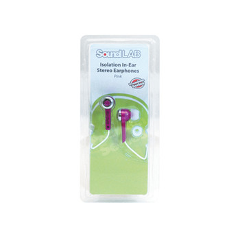SoundLAB Pink Isolation In-Ear Stereo Earphones
