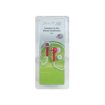 SoundLAB Red Isolation In-Ear Stereo Earphones