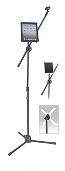 New Jersey Sound Black Microphone Boom Arm Stand inc. tablet housing