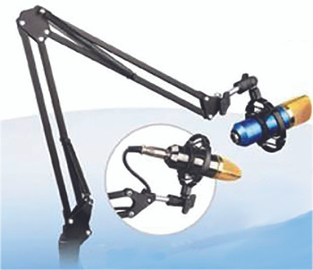 New Jersey Sound Recording Microphone Stand Inc. Desk Clamp. Mic and mount not included