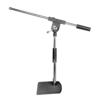 Black/Silver Adjustable Desk Microphone Stand with Boom