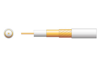 100U 75 Ohms FOAM FILLED COAXIAL CABLE - CCA BRAID-808.151UK