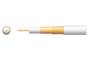 100U 75 Ohms FOAM FILLED COAXIAL CABLE - CCA BRAID-808.153UK