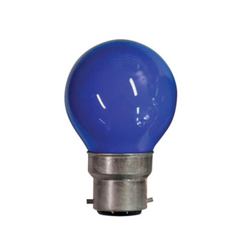 Blue 25W BC Golf Ball Lamp (Solid Lacquer)