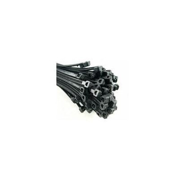 4.8mm x 200mm Black Cable Ties (Pack 100)