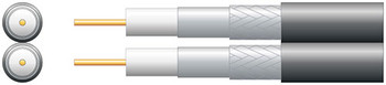 Eco Twin RG6 Foamed PE Coaxial Cable with Al Braid - 100m White [808.128UK]