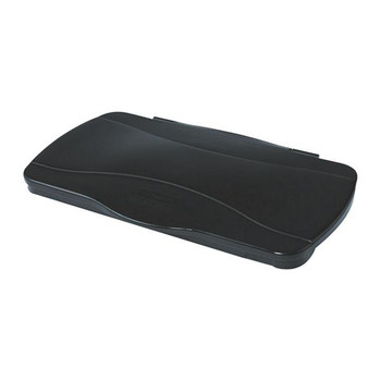 Rubbermaid Slim Jim Hinged Lid Black 2674-00-BLA