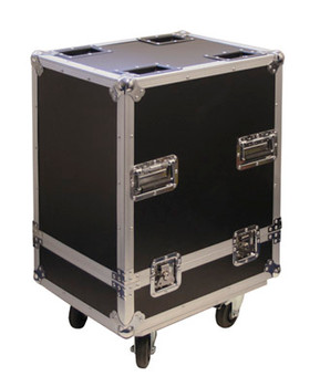 Black Single Moving Head Light Case On Wheels with Foam Lined Interior