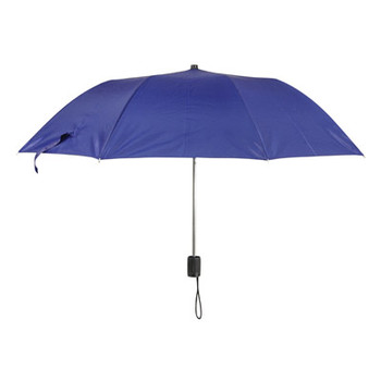 Dark Blue Polyester Folding Pocket or Handbag Umbrella