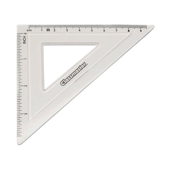 Classmaster 45 Degree Set Square Clear Pack of 30 S45-30