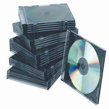 Q-Connect CD Jewel Case Slim Black Pk25