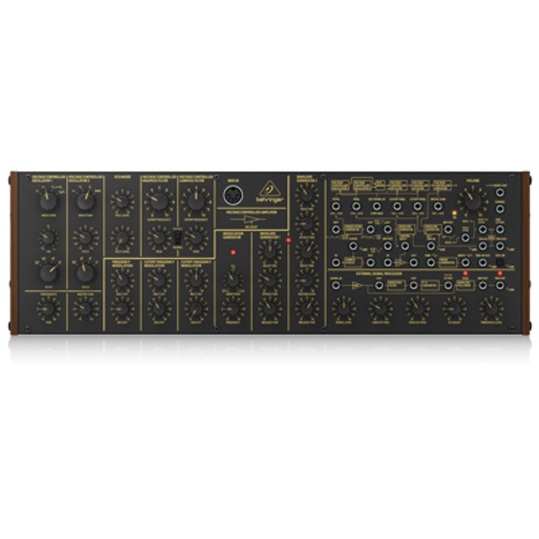 Behringer K-2 Analogue and Semi-Modular Synthesizer with Dual VCOs Ring Modulator External Signal Processor 16-Voice Poly Chain and Eurorack Format ZB962