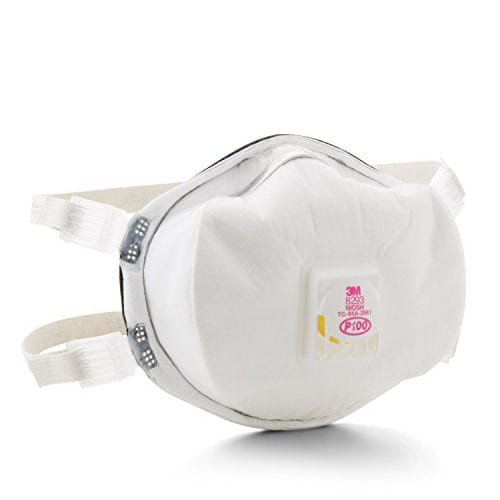 3M P100 Disposable Particulate Cup Respirator