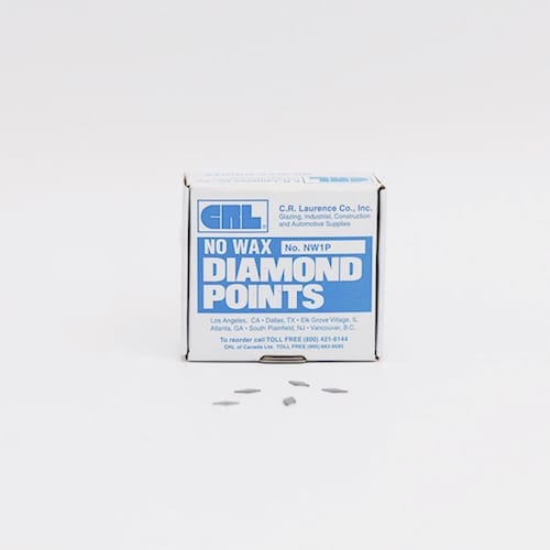 No. 1 No Wax Diamond Glazing Points 5/16″