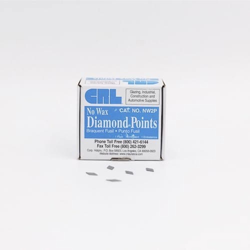 No Wax No. 2 Diamond Glazing Points 1/2″