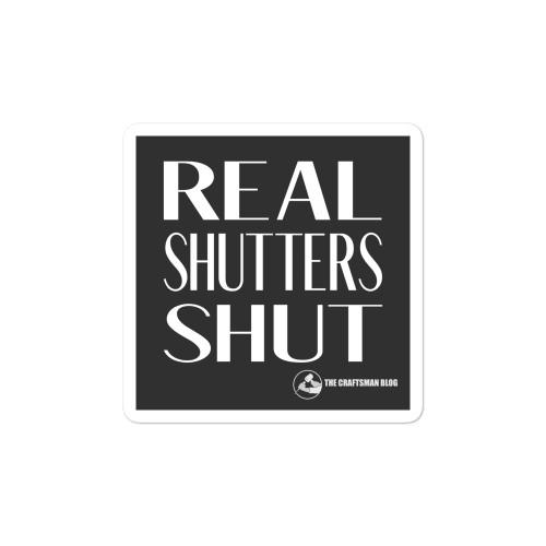 Real Shutters Shut Sticker
