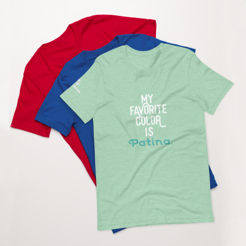 Short-Sleeve Unisex T-Shirt My Favorite Color Is Patina